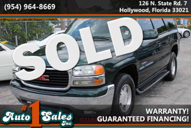 2002 GMC Yukon SLT  WARRANTY CARFAX CERTIFIED AUTOCHECK CERTIFIED 3 OWNERS FLORIDA VEHICLE