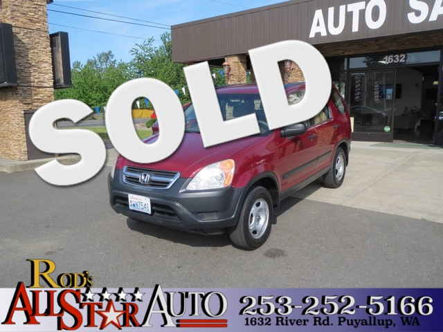 2002 Honda CR-V LX The CARFAX Buy Back Guarantee that comes with this vehicle means that you can b