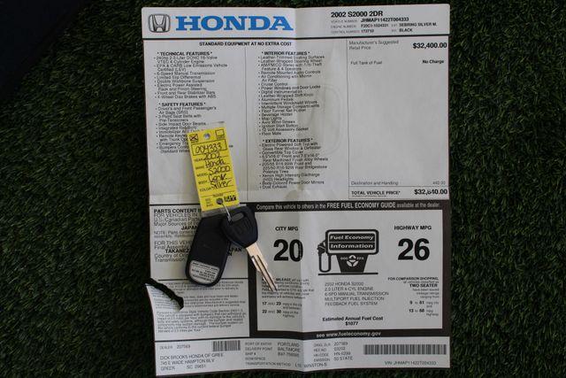 2002 Honda S2000 MICHELIN TIRES - COVER - WINDOW STICKER! Mooresville , NC 4