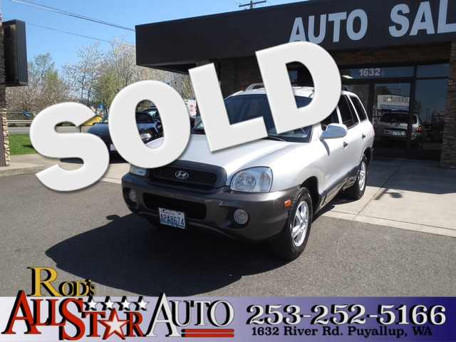 2002 Hyundai Santa Fe GLS AWD The CARFAX Buy Back Guarantee that comes with this vehicle means tha