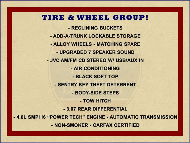 2002 Jeep Wrangler Sport 4X4 -TIRE & WHEEL GROUP! Mooresville , NC 1