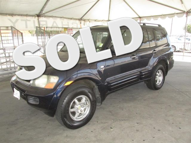 2002 Mitsubishi Montero XLS Please call or e-mail to check availability All of our vehicles are