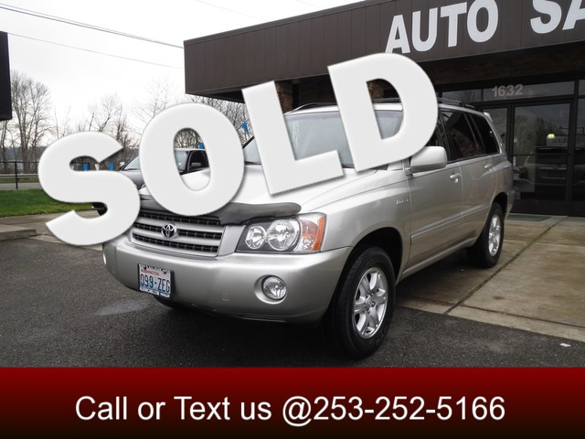 2002 Toyota Highlander Limited 4WD The CARFAX Buy Back Guarantee that comes with this vehicle mean