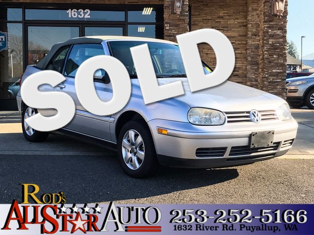 2002 Volkswagen Cabrio GLX The CARFAX Buy Back Guarantee that comes with this vehicle means that y