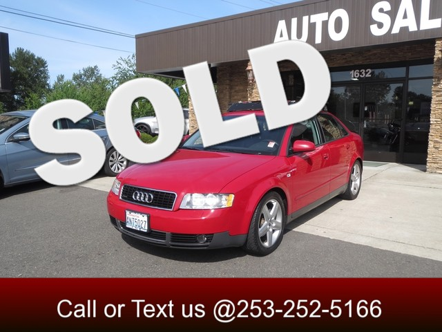 2003 Audi A4 18T AWD The CARFAX Buy Back Guarantee that comes with this vehicle means that you ca