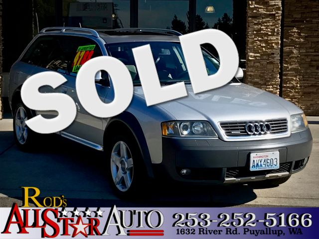 2003 Audi AllRoad AWD The CARFAX Buy Back Guarantee that comes with this vehicle means that you ca