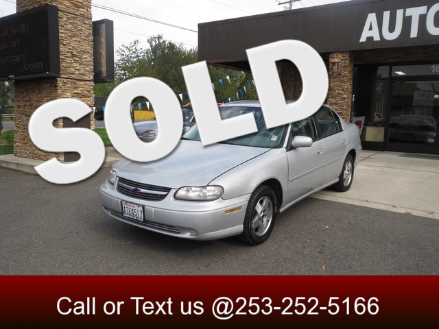 2003 Chevrolet Malibu LS The CARFAX Buy Back Guarantee that comes with this vehicle means that you