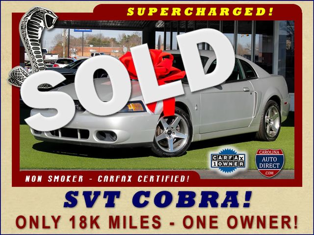 2003 Ford Mustang SVT Cobra - ONLY 18K MILES - ONE OWNER! Mooresville , NC 0