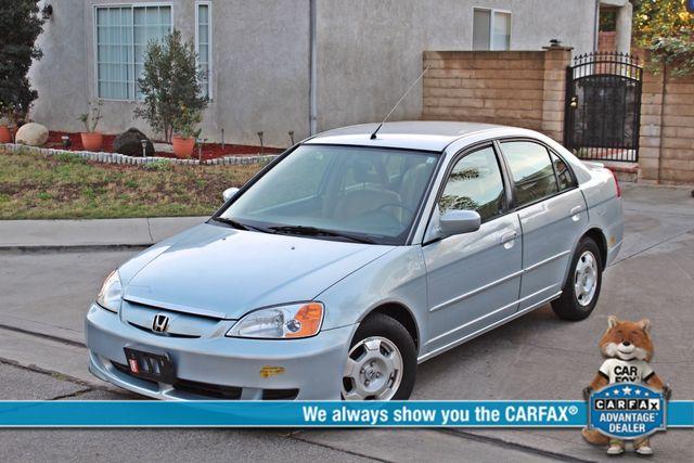 2003 Honda CIVIC HYBRID SEDAN 1-OWNER SERVICE RECORDS MANUAL Woodland Hills, CA 0