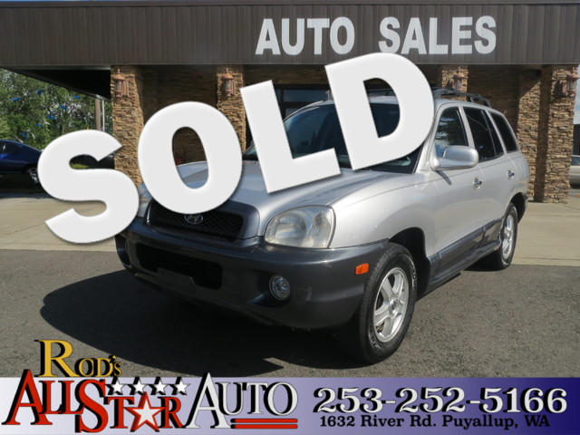 2003 Hyundai Santa Fe GLS AWD The CARFAX Buy Back Guarantee that comes with this vehicle means tha