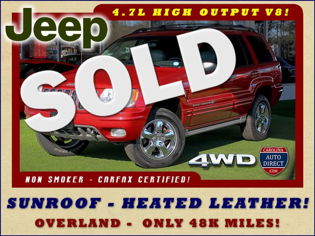 2003 Jeep Grand Cherokee Overland 4WD - SUNROOF - ONLY 48K MILES! Mooresville , NC 0