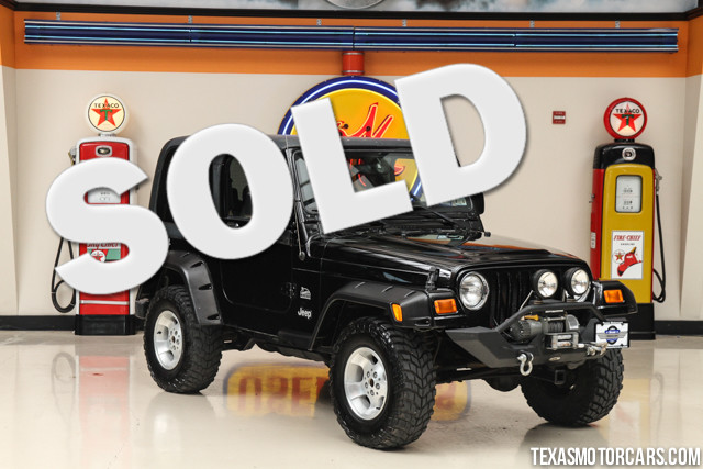 2003 Jeep Wrangler Sahara Financing is available with rates as low as 29 wac Get pre-approved