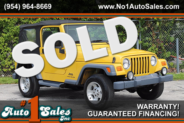 2003 Jeep Wrangler Sport  WARRANTY CARFAX CERTIFIED 1 OWNER 14 SERVICE RECORDS 4 WHEEL DRIV
