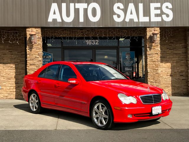 2003 Mercedes C-Class C 320 Clean CARFAX Red 2003 Mercedes-Benz C-Class C 320 RWD 6-Speed Manual