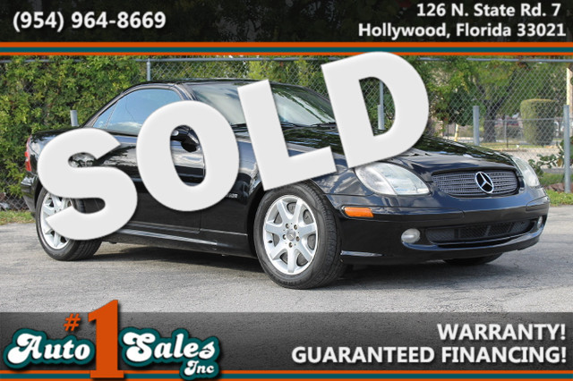2003 Mercedes SLK230 23L  WARRANTY CARFAX CERTIFIED 3 OWNERS 15 SERVICE RECORDS FLORIDA VE