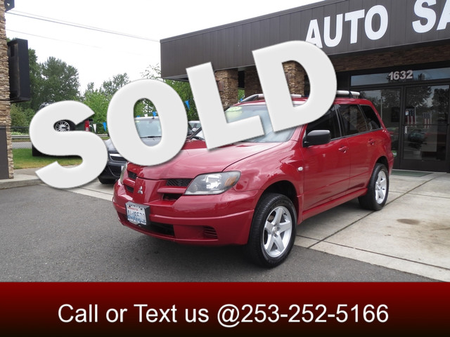 2003 Mitsubishi Outlander LS The CARFAX Buy Back Guarantee that comes with this vehicle means that