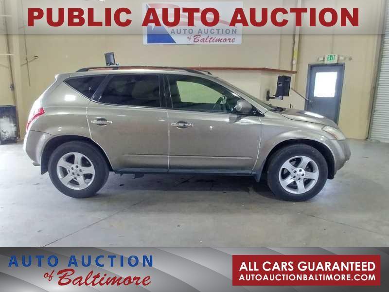 2003 Nissan Murano SL   JOPPA, MD   Auto Auction of Baltimore  in JOPPA MD