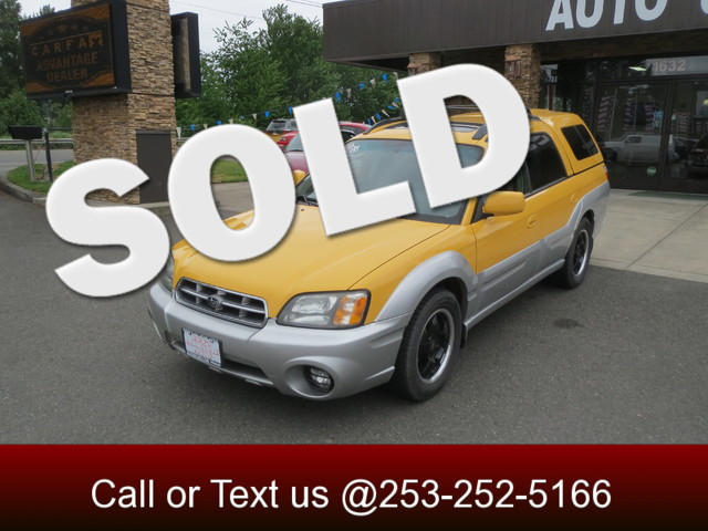 2003 Subaru Baja AWD The CARFAX Buy Back Guarantee that comes with this vehicle means that you can