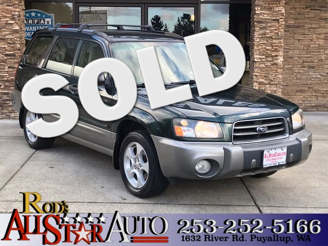 2003 Subaru Forester XS AWD The CARFAX Buy Back Guarantee that comes with this vehicle means that