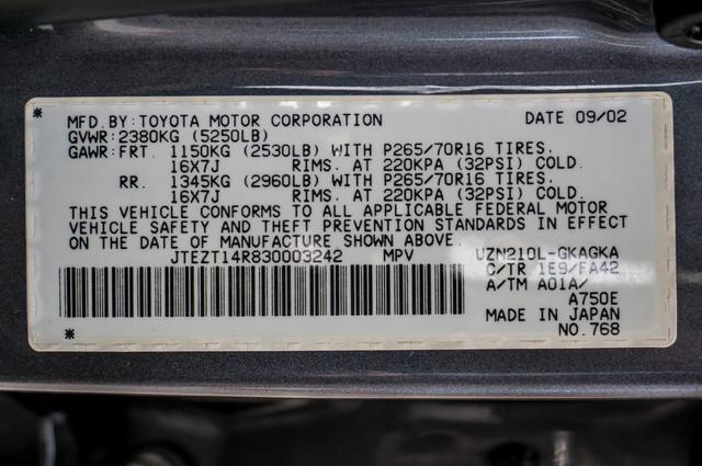2003 Toyota 4Runner SR5 V8 - SUNROOF - NAVI - TOW PKG Reseda, CA 37