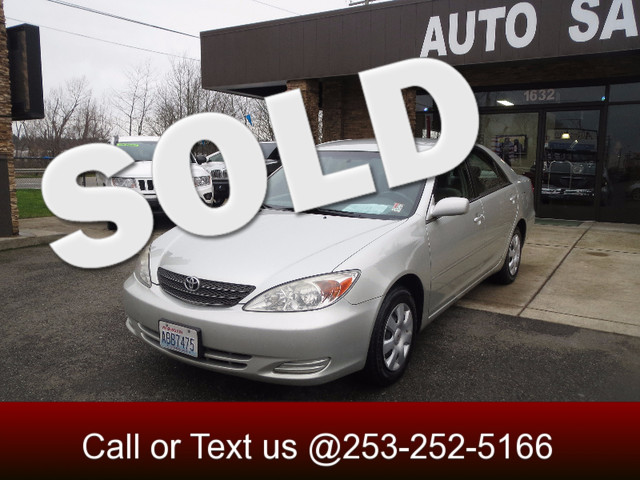 2003 Toyota Camry LE The CARFAX Buy Back Guarantee that comes with this vehicle means that you can