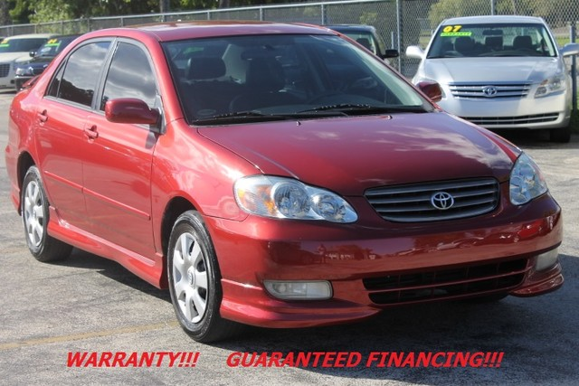 2003 Toyota Corolla S  WARRANTY AUTOCHECK CERTIFIED 1 OWNER TYPE S FLORIDA VEHICLE  Enjo