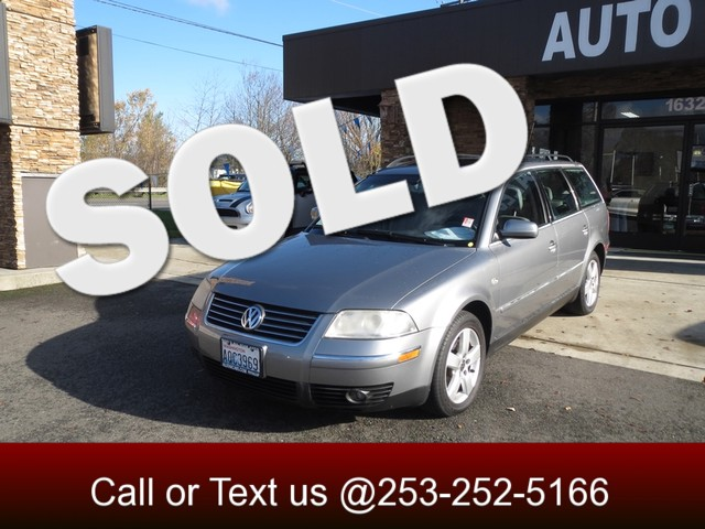 2003 Volkswagen Passat GLX The CARFAX Buy Back Guarantee that comes with this vehicle means that y