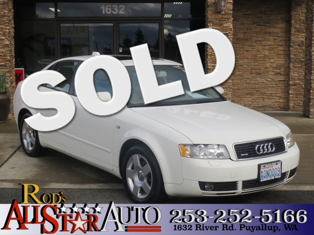 2004 Audi A4 18T AWD The CARFAX Buy Back Guarantee that comes with this vehicle means that you ca