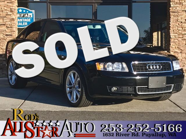 2004 Audi A4 AWD The CARFAX Buy Back Guarantee that comes with this vehicle means that you can buy