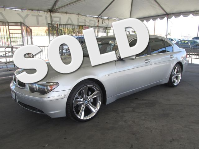 2004 BMW 745Li Please call or e-mail to check availability All of our vehicles are available fo