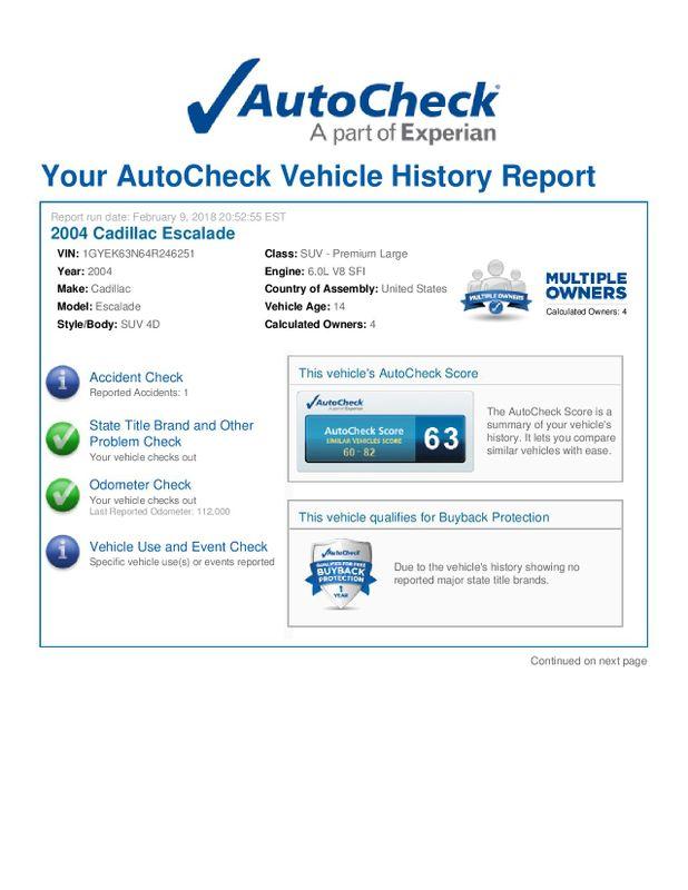2004 Cadillac Escalade   city Illinois  Ardmore Auto Sales  in West Chicago, Illinois