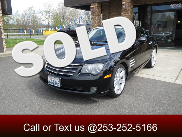 2004 Chrysler Crossfire One Owner Automatic Black on black leather Heated seats Adjustable spo
