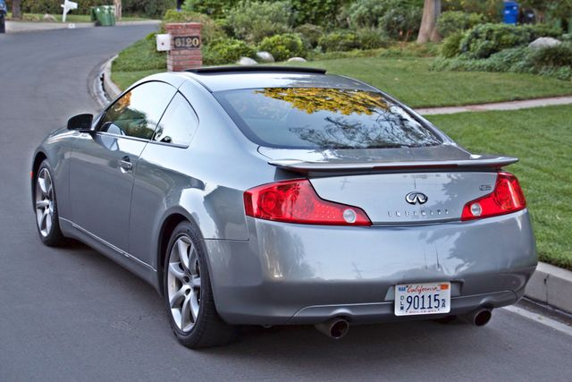 2004 Infiniti G35 COUPE W/LEATHER ONLY 95K ORIGINAL MLS SERVICE RECORDS XENON ALLOY WHLS Woodland Hills, CA 4