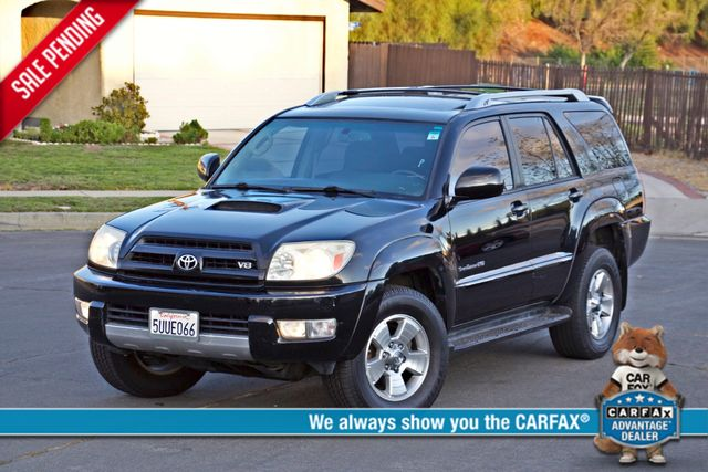 2004 Toyota 4RUNNER SR5 4WD AUTOMATIC SERVICE RECORDS ALLOY WHLS Woodland Hills, CA 0