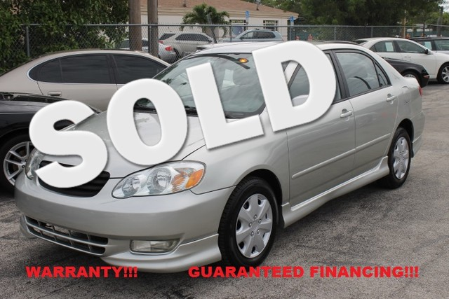 2004 Toyota Corolla S  WARRANTY 1OWNER FLORIDA VEHICLE Dependable and Economical are two