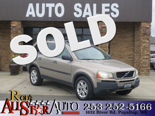 2004 Volvo XC90 T6 AWD The CARFAX Buy Back Guarantee that comes with this vehicle means that you c