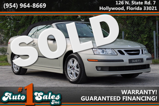 2006 Saab 9-3  WARRANTY CARFAX CERTIFIED 2 OWNERS 8 SERVICE RECORDS FLORIDA VEHICLE TRADES