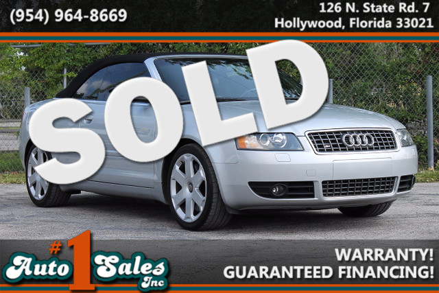 2005 Audi S4  WARRANTY CARFAX CERTIFIED 1 OWNER 18 SERVICE RECORDS LOW MILES FLORIDA VEHIC