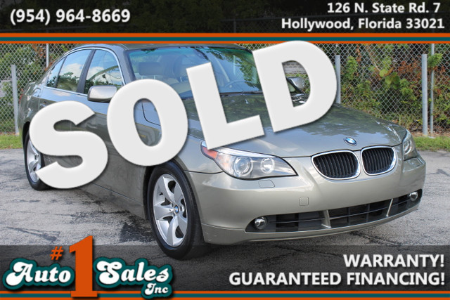 2005 BMW 525i  WARRANTY CARFAX CERTIFIED AUTOCHECK CERTIFIED 2 OWNERS FLORIDA VEHICLE TRAD