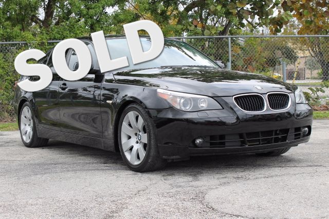 2005 BMW 530i  WARRANTY CARFAX CERTIFIED 3 OWNERS 3 SERVICE RECORDS FLORIDA VEHICLE TRADES
