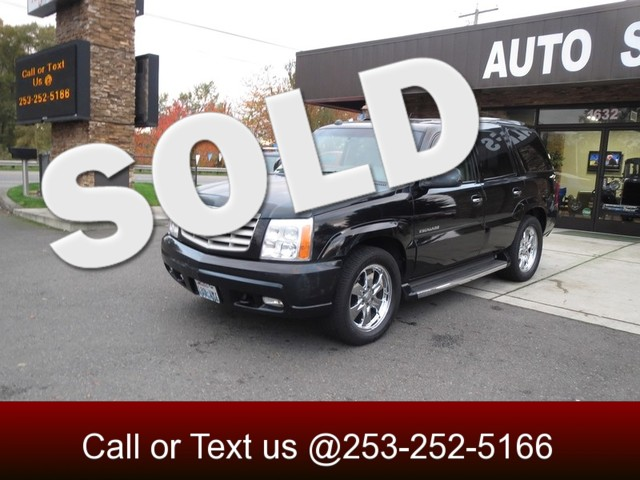 2005 Cadillac Escalade AWD The CARFAX Buy Back Guarantee that comes with this vehicle means that y