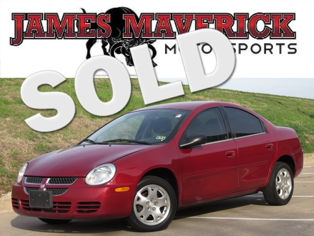 2005 Dodge Neon SXT CLEAN CARFAX TEXAS OWNED 6-DISC CHANGER EXCELLENT COMMUTER CAR Priced to