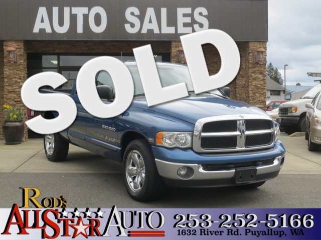 2005 Dodge Ram 1500 SLT The CARFAX Buy Back Guarantee that comes with this vehicle means that you