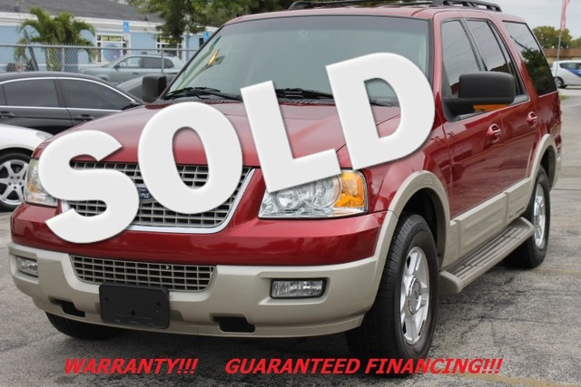 2005 Ford Expedition Eddie Bauer  WARRANTY EDDIE BAUER ONLY 2 OWNERS  Certainly one of the