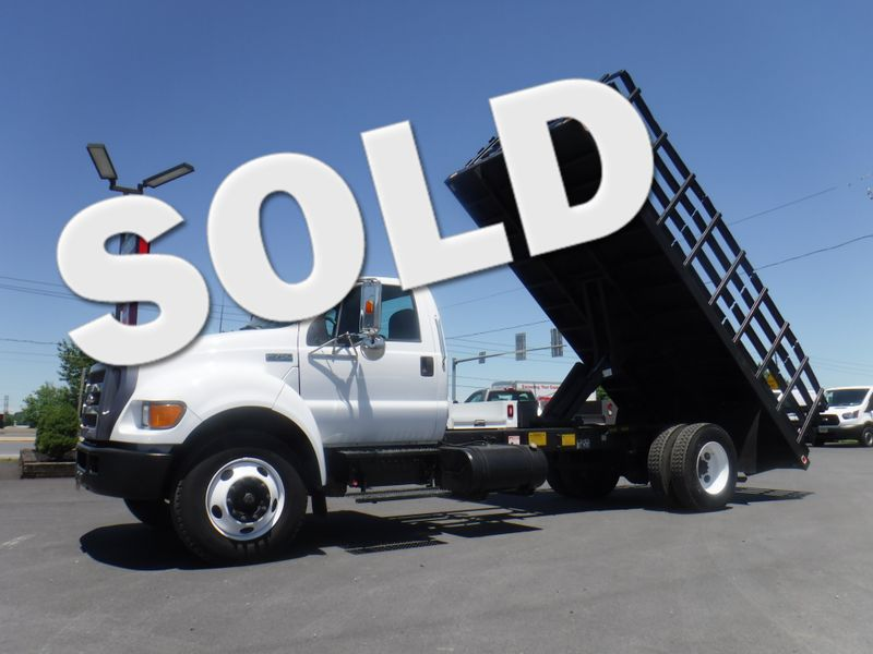 2005 Ford F750 18' Stake Dump Truck 5.9L Cummins Diesel Under CDL in Ephrata PA