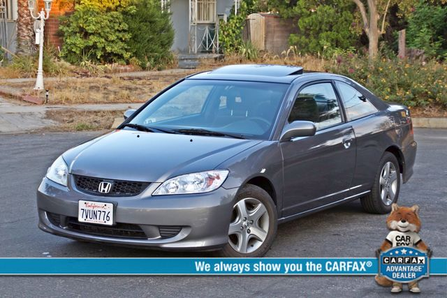 2005 Honda CIVIC EX COUPE SUNROOF AUTOMATIC ALLOY WHEELS SERVICE RECORDS Woodland Hills, CA 0