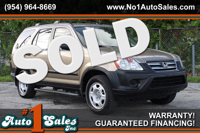 2005 Honda CR-V LX  WARRANTY CARFAX CERTIFIED 3 OWNERS GAS SAVER FLORIDA VEHICLE TRADES WE