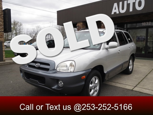 2005 Hyundai Santa Fe GLS The CARFAX Buy Back Guarantee that comes with this vehicle means that yo