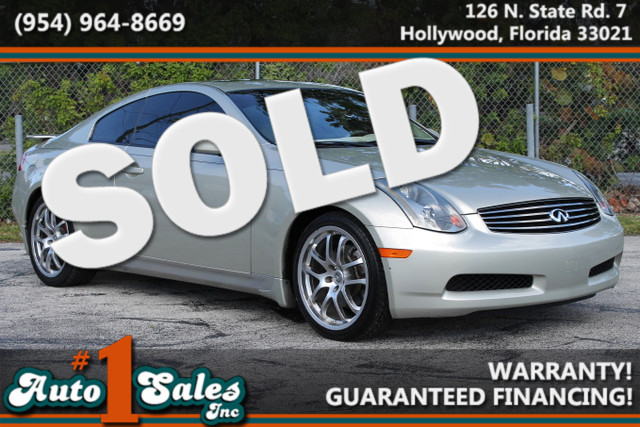 2005 Infiniti G35  WARRANTY CARFAX CERTIFIED AUTOCHECK CERTIFIED 2 OWNERS FLORIDA VEHICLE