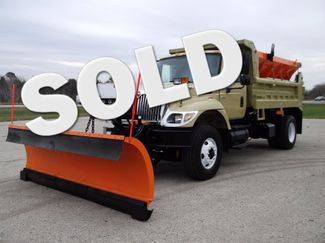 2005 International 7400 Snow Plow Dump Truck, 11', Dump with Spreader ., .
